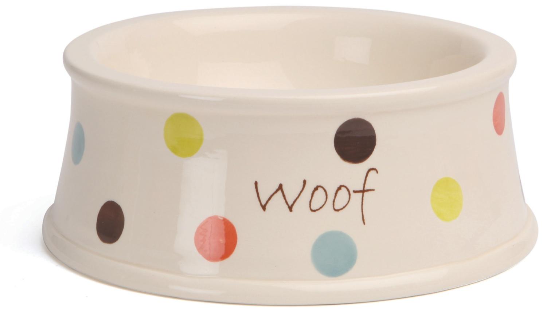 Polka Dot Dog Bowl