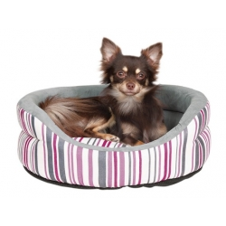 pink stripe dogs cushion