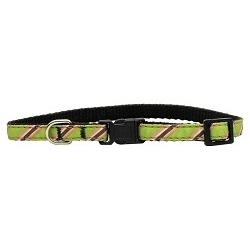 Lime Collegiate Cat Collar