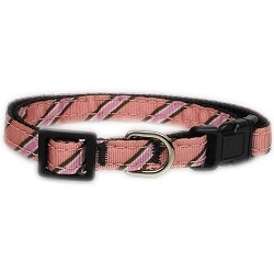 Pink Collegiate Puppy Collar