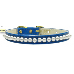 blue pearl dog collar