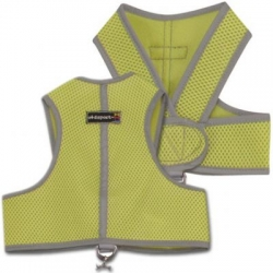 lime green step in dog harness