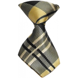 Dog Neck Tie Cream Plaid