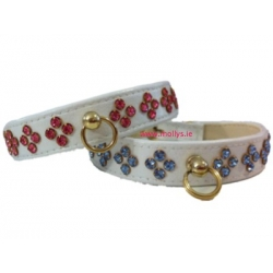 Tiara Diamante Dog Collar