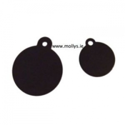 black circle pet ID tag