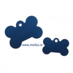 blue bone pet ID tag