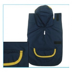 navy dog coat