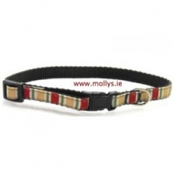 red stripe cat collar
