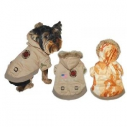 dog desert army parka