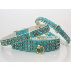 turquoise diamante collars