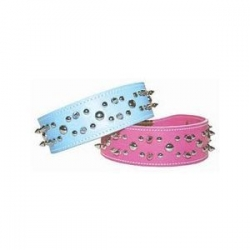 pink leather stud collar