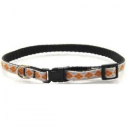 orange argyle puppy collar