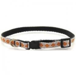 orange argyle puppy collar