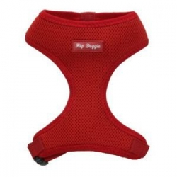 red soft dog harness