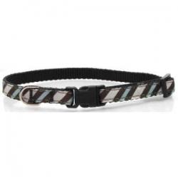 Blue Zebra Dog Collar