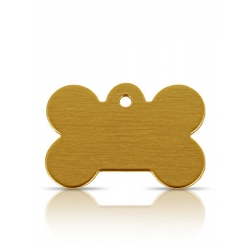 Gold Brass ID Tags
