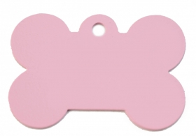 Rose Pink Bone Pet ID tag