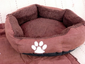 Brown Pet Bed Set