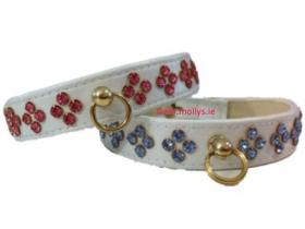 Tiara Diamante Dog Collar