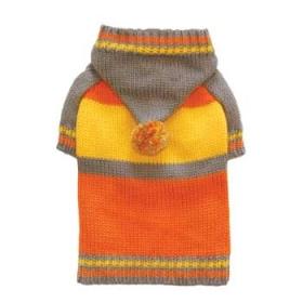 Sporty Pom Pom Hoodie-Orange