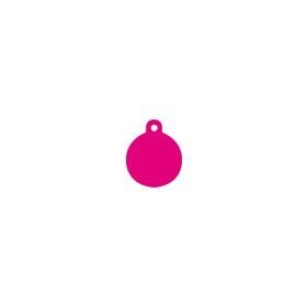 pink circle pet ID tag