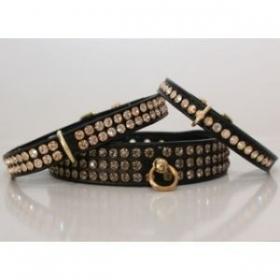 Black Diamante Dog Collar