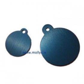 blue circle id tag