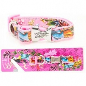 christian audigier dog collar pink