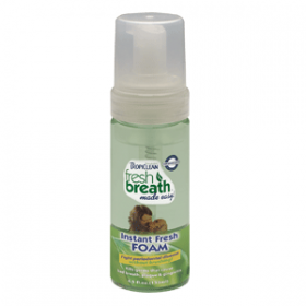 tropiclean pet dental mint foam