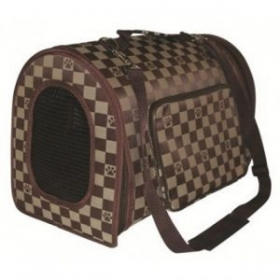 brown cat carrier