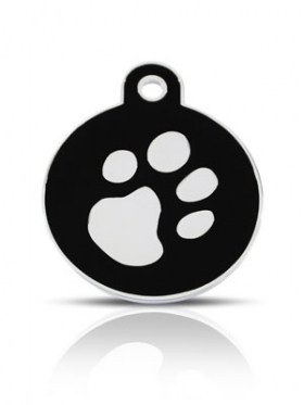 black circle id tag