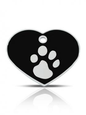 black pet id tags