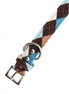 Brown & Blue Argyle Collar 3