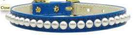 blue pearl dog collar